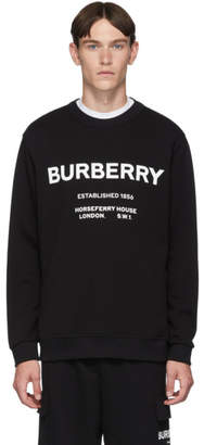 Burberry Black Logo Martley Sweatshirt