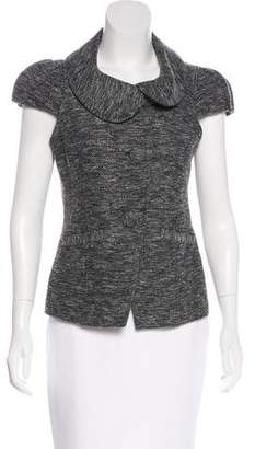 Saks Fifth Avenue Bouclé Short Sleeve Top