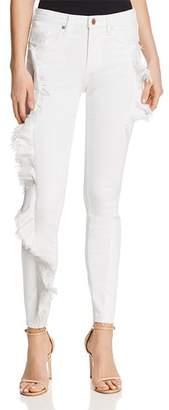 Blank NYC BLANKNYC Ruffled Skinny Jeans in White - 100% Exclusive