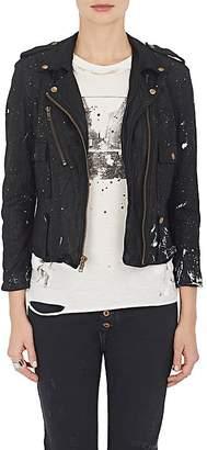 NSF Women's Washed Leather Moto Jacket