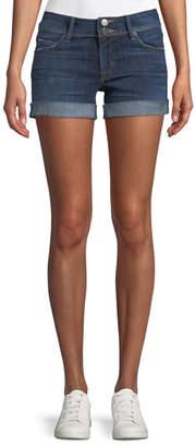 Hudson Croxley Mid-Rise Denim Shorts with Flap Pocket