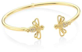 Temple St. Clair Diamond & 18K Gold Bee Bellina Bangle
