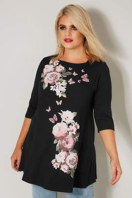Next Womens Yours Placement Floral Print Top