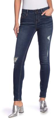 Level 99 Liza Distressed Mid-Rise Skinny Jeans