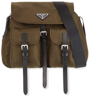 Prada Nylon Messenger Crossbody Bag