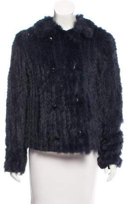 Marc by Marc Jacobs Wool & Rabbit Fur Jacket