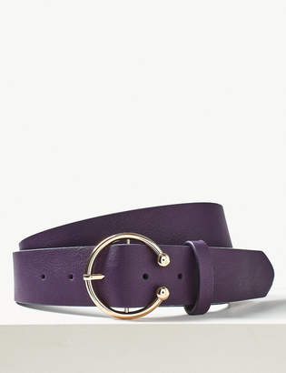 Marks and Spencer Faux Leather Jeans Hip Belt