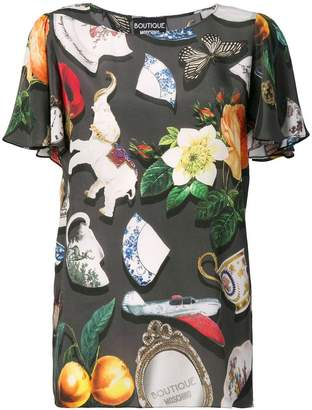Moschino all-over print blouse