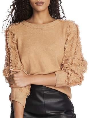 1 STATE 1.STATE Fringe-Sleeve Sweater