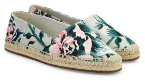 Burberry Hodgeson Floral Espadrille Flats $375 thestylecure.com