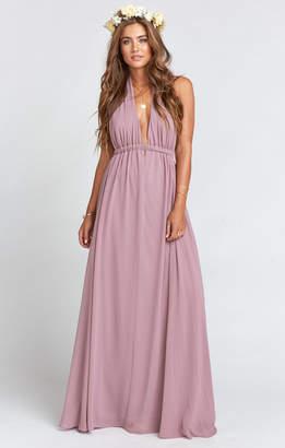 Show Me Your Mumu Luna Halter Dress ~ Antique Rose Chiffon