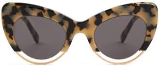 Cat Eye SARTORIALEYES Cat-eye tortoiseshell sunglasses