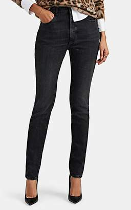 Saint Laurent Women's High-Rise Skinny Jeans - Black
