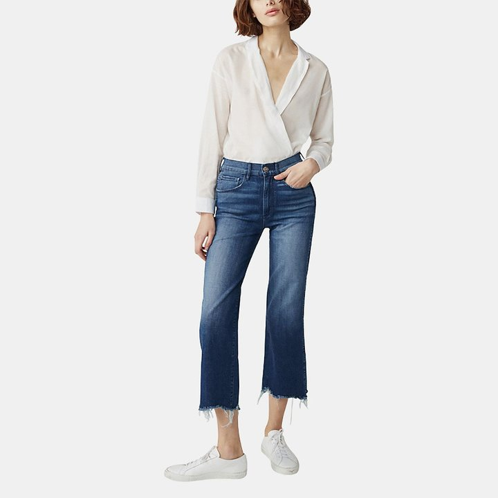 3x1 Shelter Wideleg Crop Jean in Lawndale