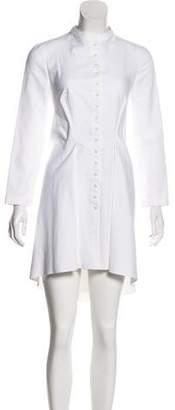 Alexander McQueen High-Low Mini Dress