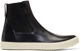 Rick Owens Black and Off-White Mastodon Elastic Boots
