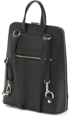Made In Italy Slim Convertible Leather Backpack