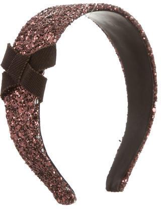 Miu MiuMiu Miu Glitter Bow Headband
