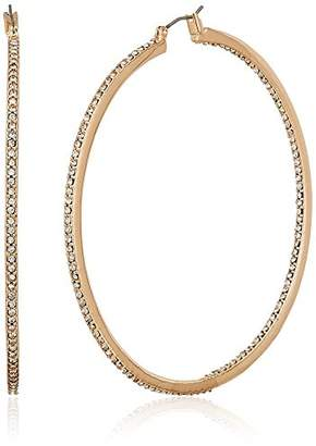 """Kenneth Cole New York Rose Gold Items"""" Rose Gold and Crystal Large Hoop Earrings"""