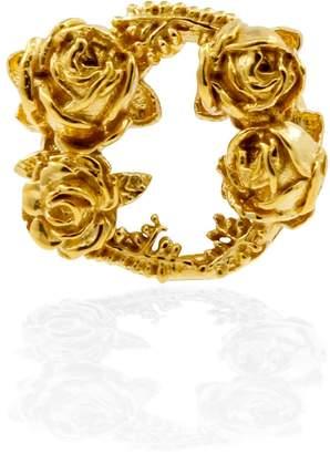 Lee Renee Rose Halo Lapel Pin Gold