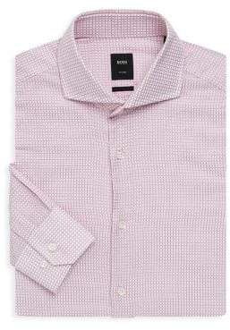 HUGO BOSS Regular-Fit Checkered Dress Shirt