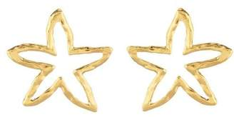 Oscar de la Renta Star Fish Outline Earrings