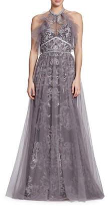 Marchesa Sleeveless Evening Gown