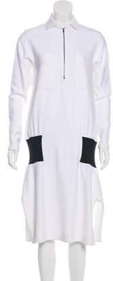 Bassike Long Sleeve Midi Dress