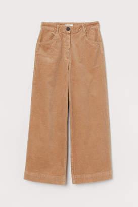 H&M Cotton Corduroy Pants - Beige