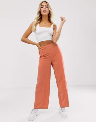 Asos Design DESIGN wide leg pants with clean high waist
