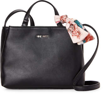 Nine West Black Carli Accented Crossbody
