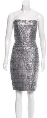 Romona KeveÅ3⁄4a Metallic-Accented Silk Dress Silver Romona KeveÅ3⁄4a Metallic-Accented Silk Dress