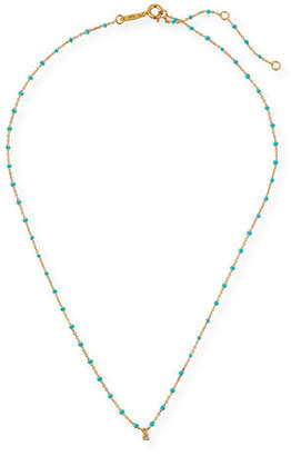 Tai Enamel Necklace w/ Cubic Zirconia & Beads