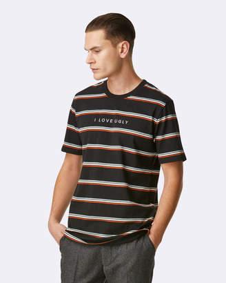 I Love Ugly Stripe Logo Tee