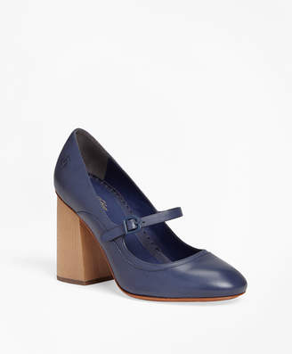 Brooks Brothers Leather Mary Jane Pumps