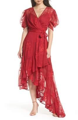 Ever New Asymmetrical Faux Wrap Dress
