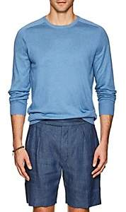 P. Johnson Men's Knit Silk-Cotton Crewneck Sweater