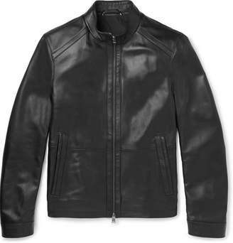 HUGO BOSS Nestal Leather Jacket - Men - Black