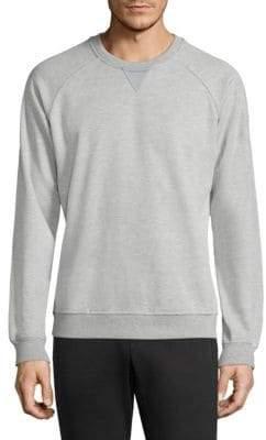 Long Sleeve Ribbed Sweatshirt