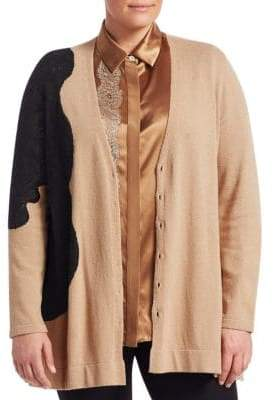 Marina Rinaldi Marina Rinaldi, Plus Size Marletto Wool-Blend Cardigan