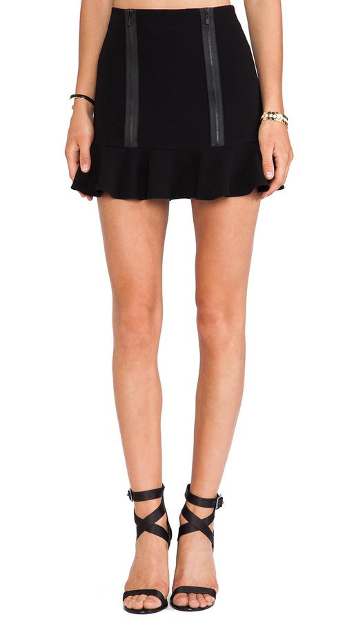 Robert Rodriguez Zipped Flounce Skirt