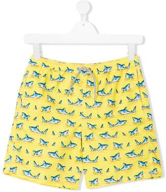 MC2 Saint Barth Kids Teen shark print swim shorts