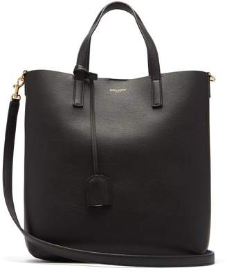 Saint Laurent Shopping Toy Leather Tote Bag - Womens - Black