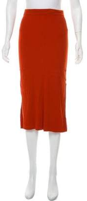 Theory Ribbed Midi Skirt