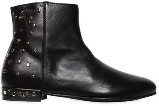 Simonetta Studded Nappa Leather Ankle Boots