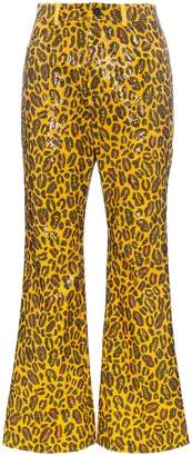 Charm's leopard printed sequin embellished trousers
