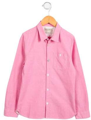 Scotch Shrunk Boys' Pointed Collar Button-Up Shirt