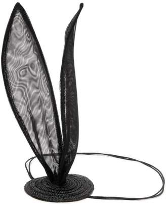 Maison Michel Heidi Rabbit Ear Tulle Headband - Womens - Black
