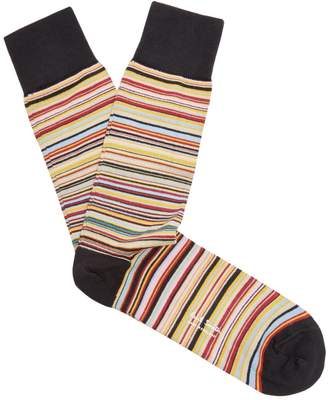 Paul Smith Striped Cotton Blend Socks - Mens - Multi