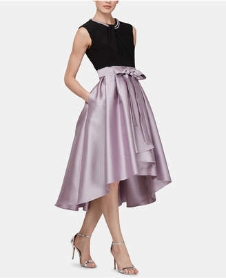 82c308a5 SL Fashions Faux-Pearl High-Low Contrast Dress